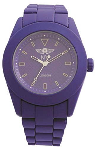ny-londres-unisex-purple-rubberised-metal-z-de-cuarzo-analogico-reloj-modelado-cara-broche-extra-bat