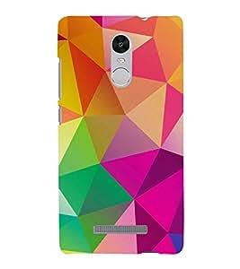 FUSON Abstract Background Consisting Triangles 3D Hard Polycarbonate Designer Back Case Cover for Xiaomi Redmi Note 3 :: Xiaomi Redmi Note 3 Pro :: Xiaomi Redmi Note 3 MediaTek
