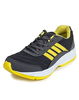 Columbus TB-15 Mesh Sports shoes for Men (UK 10, GreyYellow)
