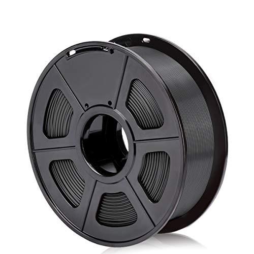 SUNLU PLA Plus nero, filamento PLA Plus 1.75 mm, Precisione dimensionale a basso odore +/- 0,02 mm, Filamento per stampa 3D, bobina da 2,2 LBS (1 KG) per stampanti 3D e penne 3D, nero