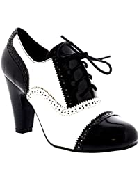 Mujer Mediados Talón Bloque Anochecer Trabajo Mary Jane Botín Zapatos