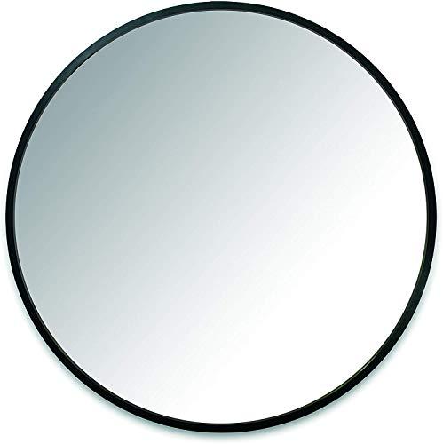 PLHMS Espejo, Espejo de Pared con marco-24-pulgadas de Pared Redondo Espejo para entradas, baños, Salas...