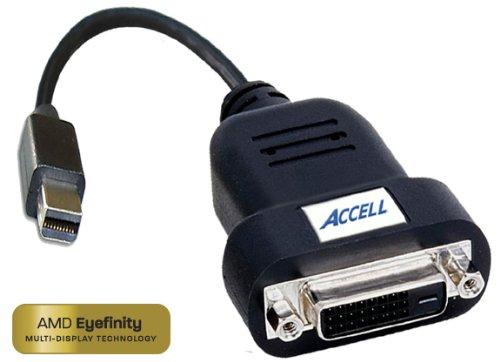 Unbekannt Accell UltraAV Mini-Display-Anschluss für DVI-D Single-Link-Active-Adapter, ATI zertifiziert schwarz schwarz (Ati-windows-laptops)