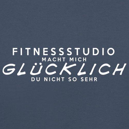 Fitnessstudio macht mich glücklich - Herren T-Shirt - 13 Farben Navy