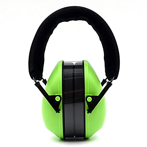 Toennesen Ear Defenders Noise Reduction Earmuffs Gun Shooting Adjustable Soundproofing Hearing Protector Noise Reduction Ear Muffs Folding Headband for Concert Weeding Travel Sensitive Autism Fits for Adults and Teens Green