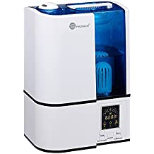 TaoTronics Cool Mist Humidifier, Ultrasonic Air Humidifiers for Bedroom with No Noise, LED Display, 4L/1.1 Gallon Capacity, Mist Level Control, and Timer, 220V, UK Plug