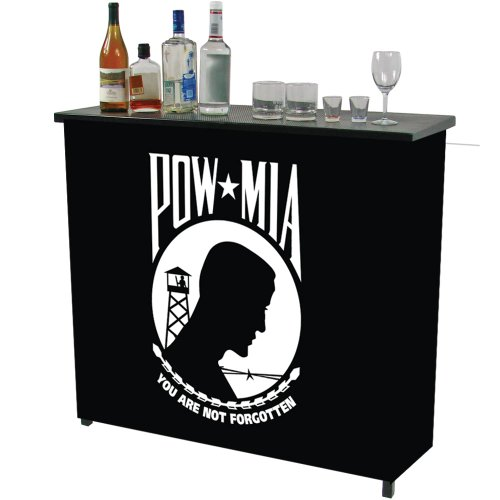 Trademark Gameroom POW Two Shelf Portable Bar with Case