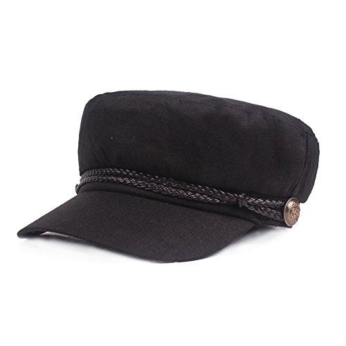 Gysad Gorra Marinero Mujer Vintage Sombrero Hombre Algodón y Lino Gorras  Planas Unisex Boina Newsboy Hat a905daaa449