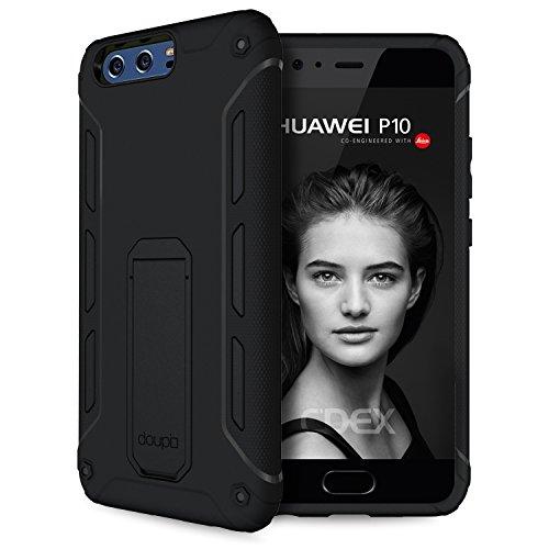 doupi Ultra Kickstand Case Huawei P10 Plus con supporto integrato coperchio apribile protezione Copertina, nero