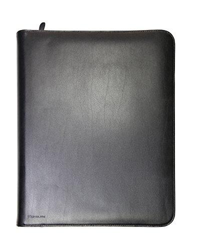 Monolith 2000002924 - Konferenzmappe mit 4-Ring-Mechanik, Leder, Tabletfach, Schreibblock, Reißverschluss -
