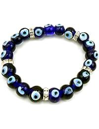 Jaz Evil Eye-Buri Nazar-Buri Drishti-Blue Bead-Bracelet-Good Luck Protection Beads Bracelet-(JDH-1-JW0028)