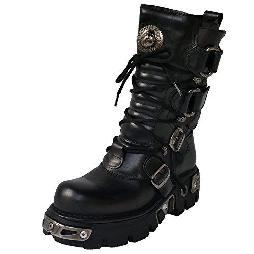 New Rock , Boots biker mixte adulte Noir