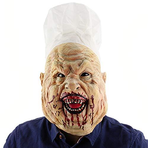 Halloween Cosplay Kostüm Maske für Erwachsene/Kinder Party Dekoration Requisiten - Bloody Crazy Chef Maske ()