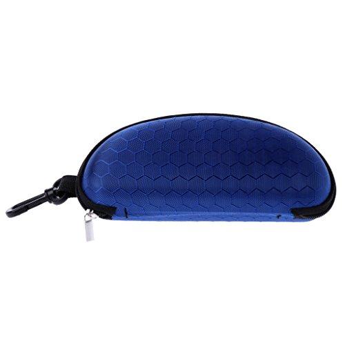 Senoow Portable Zipper Sonnenbrille Fall, 6.69''x3.15''x2.56 '', Harte Brillenetui Brillen Schutz Box Tasche Cover (Königsblau)