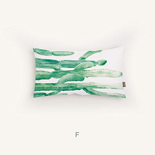 uus Rettangolo divano cuscino verde cinese inchiostro impianto di verniciatura del modello Cushion pastorale di stile della decorazione della casa e Cuscino ( colore : E , edizione : Cushion ) - Design Inchiostro Cinese