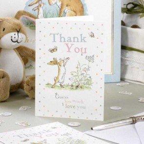 """Dankeskarten """"Guess How Much I Love You"""" Schriftzug, 10er-Pack"""