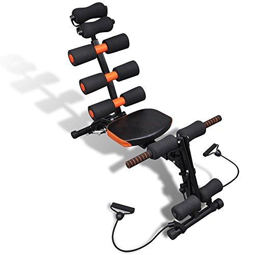 Multifunktions-Heimtrainer-6-in-1-Fitnessgert-Heimtrainer-Krafttraining-Bauchtrainer-Rckentrainer-Muskelmaschine-Bewegungsgert-iisport
