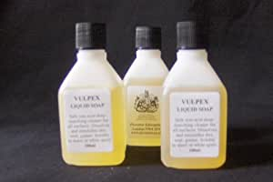 Vulpex Liquid Soap 100ml - A safe versatile cleaner of many delicate surfaces i.e coins, textiles, metals, leather, oil paintings (murals, canvas), sculptures, stone etc by Vulpex