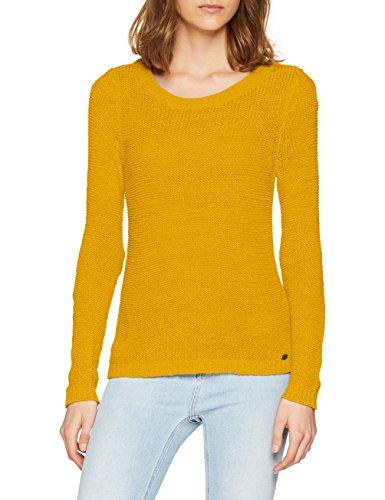 ONLY NOS Damen Pullover onlGEENA XO L/S KNT NOOS, Rosa Golden Yellow, 44 (Herstellergröße: XXL)
