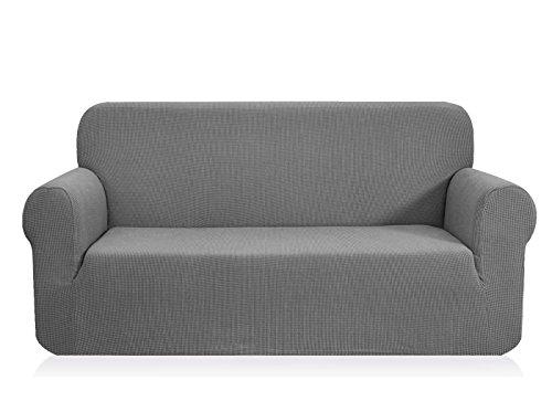 CHUN YI 1-Stück Jacquard Sofaüberwurf, Sofaüberzug, Sofahusse, Sofabezug für Sofa, Couch, Sessel, mehrere Farben (Hellgrau, 2-sitzer)