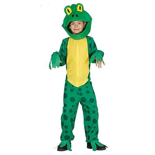Guirca Frosch - Kostüm für Kinder Froschkostüm Grün Kröte, Größe:128/134 (Tier Muppet Kostüm)
