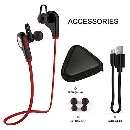 TechCode Bluetooth Kopfhörer In Ear, Wireless Headset In-Ear-Kopfhörer Sweatproof Sport Laufende Earbuds mit Noise Cancelling für iPhone,iPod,iPad,Samsung,Huawei,LG,Xiaom,Tablets,TV usw.