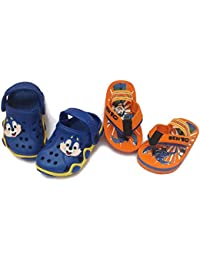 NEW AMERICAN Kids Attractive Slippers and Clogs Combo