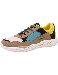 Wawer Herren Sportschuhe Sneakers Runners Freizeitschuhe Plateau Schuhe (39-44) (41, Grau)