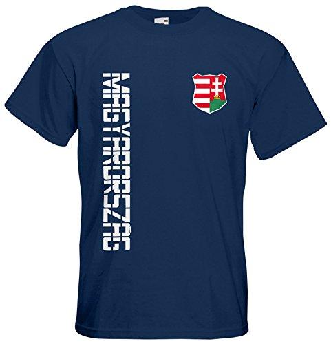 Ungarn Magyarország EM 2016 T-Shirt Trikot Navyblau