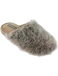 Copete Pelo Largo, Zapatillas de Estar por Casa para Mujer, Blanco (Blanco), 36 EU Victoria