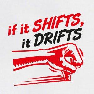 TEXLAB - If it shifts it drifts - Stoffbeutel Grau