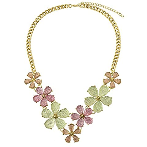 LUX Zubehör mint grün lila multi Farbe Blumen Caviar Statement