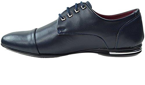 CAPRIUM Halbschuhe Business Schuhe Schnürhalbschuhe, Herren 38001234 Navy