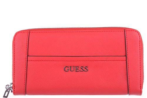 Guess portefeuille porte-monnaie femme deux plis delaney orangene