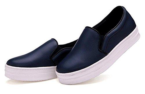 Ms. primavera e autunno scarpe, scarpe basse scarpe single pattini della signora delle donne è aumentato Blue
