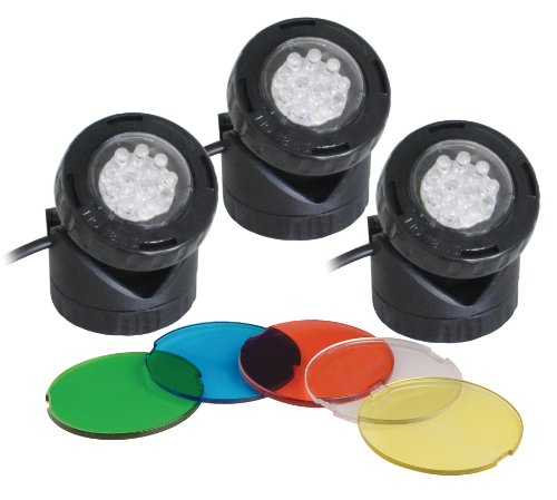 set-of-3-fully-submersible-led-16w-pond-or-garden-lights-with-light-sensor