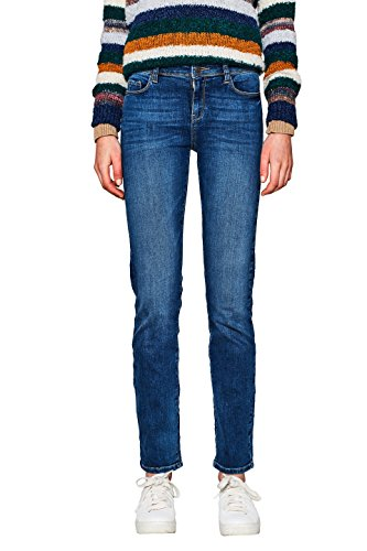 ESPRIT Damen 997EE1B812 Straight Jeans, Blue Medium Wash 902, 29W / 30L