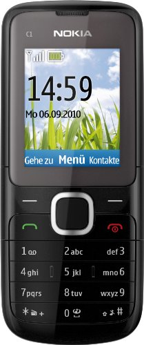 Nokia C1-01 Handy (4,6 cm (1,8 Zoll) Display, Micro USB, VGA Kamera) dark grey