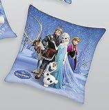 Herding Coussin Disney pour Enfants, Marvel Barbie (la Reine des Neiges, Frozen, Spiderman, Mia and Me, Dragons 40x 40cm)