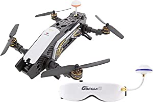 XciteRC 15003850Racing Furious 320RTF Quadcopter with Full HD FPV Camera Video Goggles V2, GPS, OSD, Battery, Charger and Devo 10Transmitter, White by XciteRC