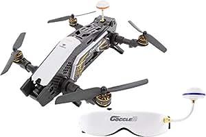 XciteRC 15003850–FPV Racing Quadrocopter Furious 320RTF con Full HD fotocamera, Video Occhiali Goggle V2, GPS, OSD, Batteria, Caricabatterie e telecomando Devo 10, Bianco