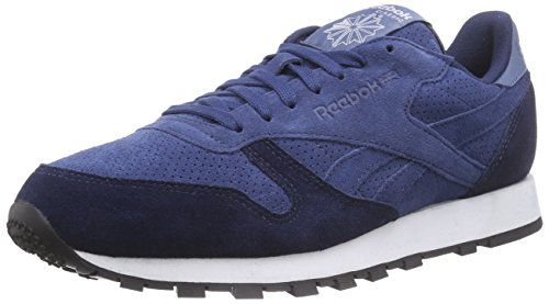 Reebok CL Leather MP, Herren Laufschuhe, Blau (Batik Blue/Faux Indigo/Blue Slate/White/Black), 45.5 EU (11 Herren UK) (Running Pack Reebok)
