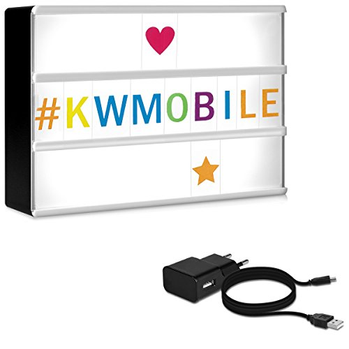 Kwmobile caja luz cinematográfica LED A6 - 126 letras