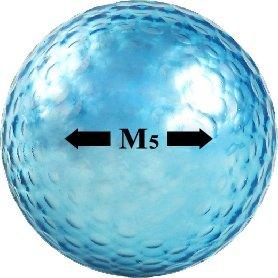 Chromax Golfbälle Metallic M5, Blau, 3 Stück