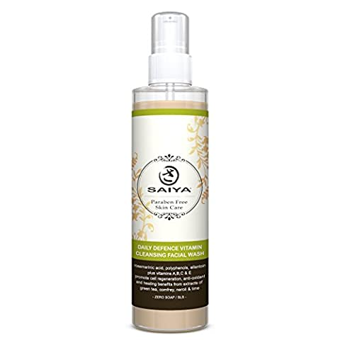 Deep Cleansing Facial Wash- All Natural Mild Green Tea-Best Natural Daily Care- Free Radical Protection-Gentle Skin Cleanser-Cell Regeneration-Effective Healing- Remove Makeup Everyday-Antioxidant 145ml