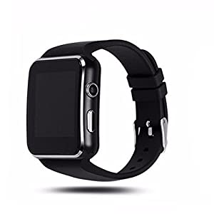 WellTech VIVO X21 (COMPATIBLE) Bluetooth Certified Smart Watch All 2G, 3G,4G Phone, X6 Wrist Watch Phone with Camera & SIM Card Support Hot Fashion New Arrival Best Selling Premium Quality Lowest Price with Apps like Facebook, Whatsapp, Read Message or News, Sports, Health, Pedometer, Sedentary Remind & Sleep Monitoring, Better Display, Loud Speaker, Microphone, Touch Screen, Multi-Language, For all Android iOS Mobile Tablet PC iPhone etc