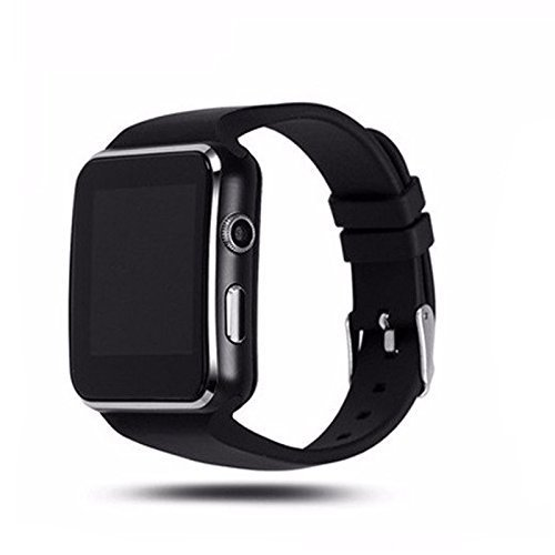 WellTech Bluetooth Certified Smart Wrist Watch All 2G, 3G,4G Phone, X6 Phone with Camera & SIM Card Support for Smartphones