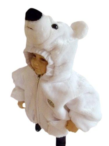 F87 Eisbär Kinderjacke Gr. 86-92 für Babies und Kleinkinder, nicht nur für den Karneval und Fasching, Ihr Kind wird sie den ganzen Winter - Polar Bär Baby Kostüm