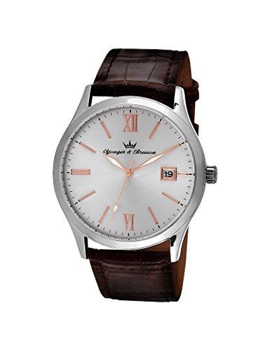 Reloj Yonger & Bresson hombre soleillé blanco–HCC 045/BU–Idea regalo Noel