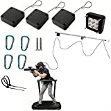 VR Cable Management/Ceiling Pulley System for HTC Vive Pro Virtual Reality/Oculus Rift/PS VR/Samsung Odyssey Plus VR Accessories(Line Length can up to 4 Meters)